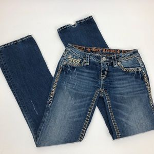 Rock Revival Kni Boot Cut Jean Style E8322BL